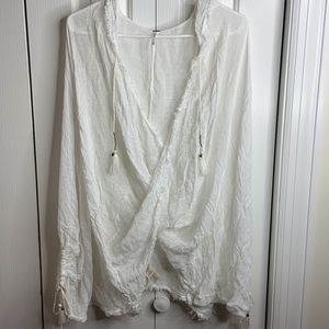 Free people size XS hooded cape wrap light weight